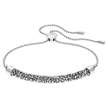 Long Beach Bracelet, Grey, Stainless steel - Swarovski, 5528446