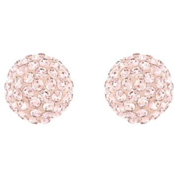 Blow 穿孔耳环, 粉红色, 镀玫瑰金色调 - Swarovski, 5528456