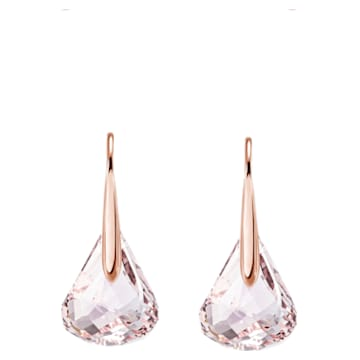 Lunar Pierced Earrings, Pink, Rose-gold tone plated - Swarovski, 5528509