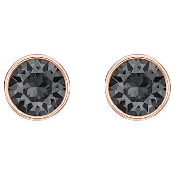 Orecchini Lattitude Chain, Nero, Placcato color oro rosa - Swarovski, 5528512