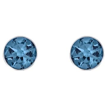 Boucles d'Oreilles « Ear-Jacket » Forward, bleu, Métal plaqué palladium - Swarovski, 5528514