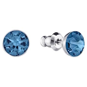 Forward pierced earring jackets, Blue, Palladium plated - Swarovski, 5528514