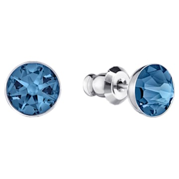 Pendientes Ear Jacket Forward, azul, Baño de Paladio - Swarovski, 5528514