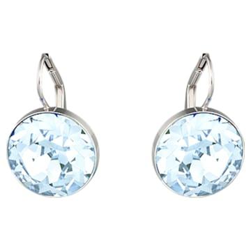 Bella 穿孔耳环, 蓝色, 镀铑 - Swarovski, 5528515