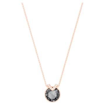 Colgante Bella V, negro, Baño en tono Oro Rosa - Swarovski, 5528552