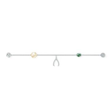 Swarovski Remix Collection Wishbone Strand, 綠色, 鍍白金色 - Swarovski, 5528718