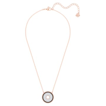 Lollypop Halskette, Schwarz, Roségold-Legierung - Swarovski, 5528723