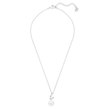 Gabriella Pearl 链坠, 白色, 镀铑 - Swarovski, 5528731
