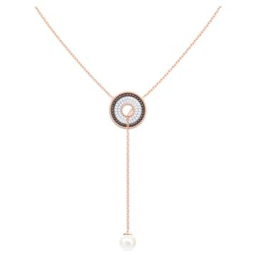 Lollypop Y 項鏈, 漸層色, 鍍玫瑰金色調 - Swarovski, 5528732