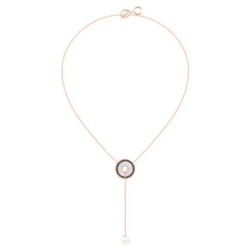 Lollypop Y Necklace, Multi-colored, Rose-gold tone plated - Swarovski, 5528732