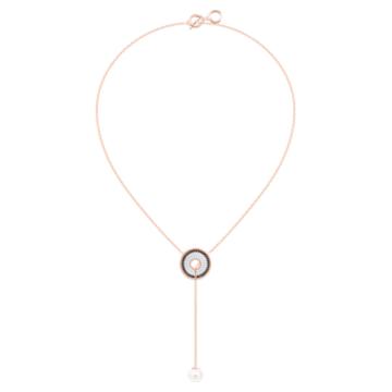 Lollypop Y necklace, Multicoloured, Rose-gold tone plated - Swarovski, 5528732