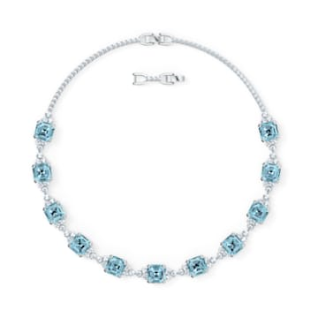 Collier Sparkling, aiguemarine turquoise, métal rhodié - Swarovski, 5528875