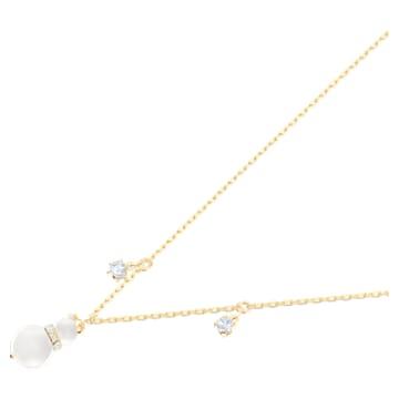 Přívěsek Little Snowman, Bílá, Pokoveno ve zlatém odstínu - Swarovski, 5528916