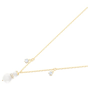 Pendentif Little Snowman, blanc, Métal doré - Swarovski, 5528916