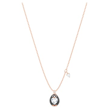 Little Penguin Pendant, Multi-colored, Rose-gold tone plated - Swarovski, 5528917