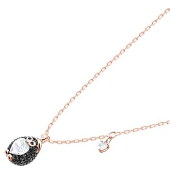 Wisiorek Little Penguin, Różnokolorowy, Powłoka w odcieniu różowego złota - Swarovski, 5528917