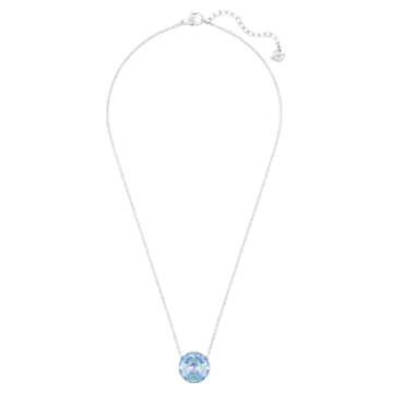 Globe Halskette, Blau, Rhodiniert - Swarovski, 5528921