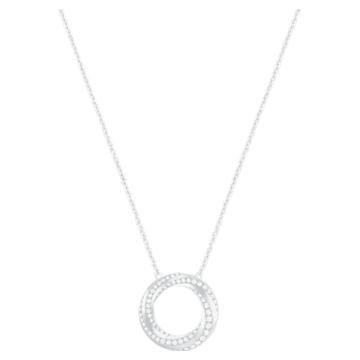 Hilt 项链, 白色, 镀铑 - Swarovski, 5528929