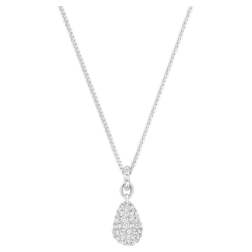 Heloise Pendant, White, Rhodium plated - Swarovski, 5528931