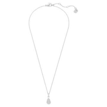 Pendentif Heloise, Blanc, Métal rhodié - Swarovski, 5528931