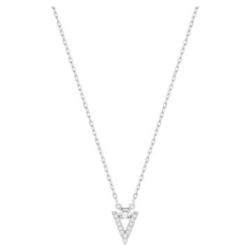 Funk Halskette, Weiss, Rhodiniert - Swarovski, 5528933