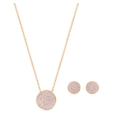Set Fun, Rosa, Placcato color oro rosa - Swarovski, 5528942