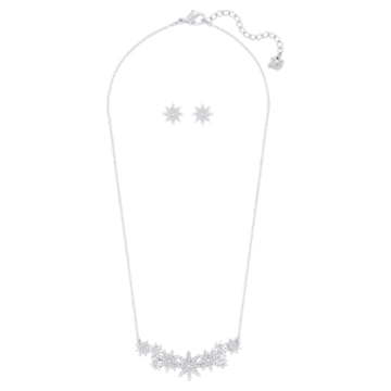 Set Fizzy, Bianco, Placcato rodio - Swarovski, 5528944