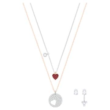 Crystal Wishes Set pendant, Multicoloured, Mixed metal finish - Swarovski, 5528973
