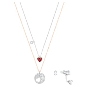 Crystal Wishes Set 鏈墜, 漸層色, 多種金屬潤飾 - Swarovski, 5528973