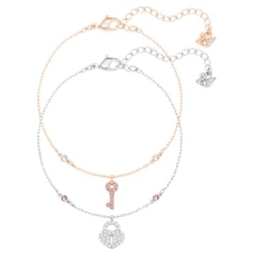Crystal Wishes Set 手链, 白色, 多种金属润饰 - Swarovski, 5529346