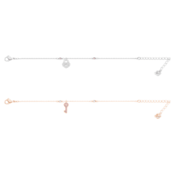 Bracelet Crystal Wishes Set, Blanc, Finition mix de métal - Swarovski, 5529346
