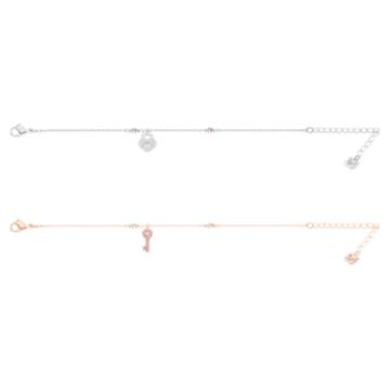 Crystal Wishes Set bracelet, White, Mixed metal finish - Swarovski, 5529346
