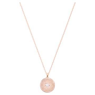 Locket Pendant, Pink, Mixed metal finish - Swarovski, 5529372
