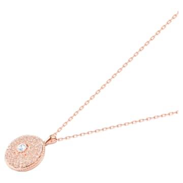 Pendentif Locket, Rose, Finition mix de métal - Swarovski, 5529372