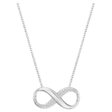 Exist 链坠, Infinity, 白色, 镀铑 - Swarovski, 5529395