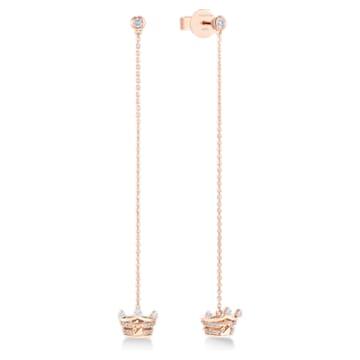 耀妳为王18K玫瑰金钻石耳环 - Swarovski, 5529683
