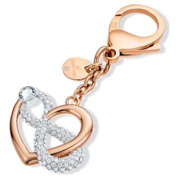 Accessoire de sac Infinite, blanc, métal doré rose - Swarovski, 5530885