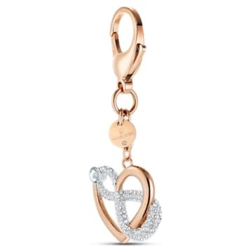 Infinite Подвеска на сумку, Белый Кристалл, Покрытие оттенка розового золота - Swarovski, 5530885