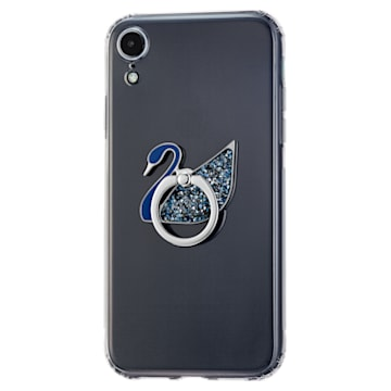 Hattyús gyűrűs matrica, kék, nemesacél - Swarovski, 5531511