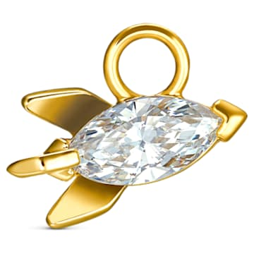 Out of this World Rocket Charm, White, Gold-tone plated - Swarovski, 5531530