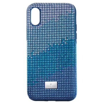 Funda para smartphone con protección rígida Crystalgram, iPhone® X/XS, azul - Swarovski, 5532209