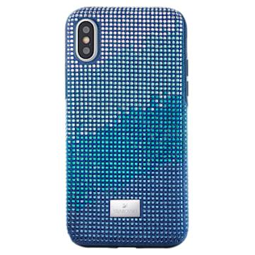 Custodia per smartphone con bordi protettivi Crystalgram, iPhone® X/XS, azzurro - Swarovski, 5532209