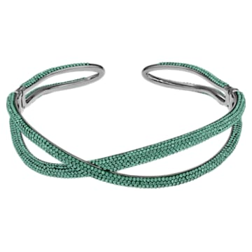 Ras-de-cou Tigris, vert, métal plaqué ruthénium - Swarovski, 5532477