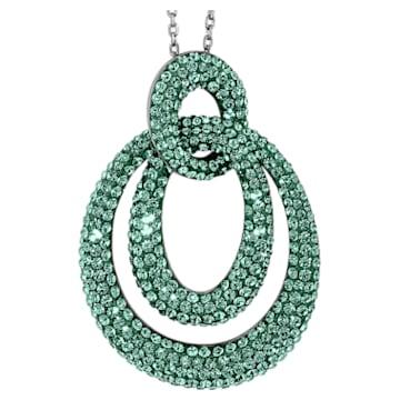 Pendentif Tigris, vert, métal plaqué ruthénium - Swarovski, 5532486