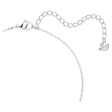 Dancing Swan 项链, 天鹅, 蓝色, 镀铑 - Swarovski, 5533397