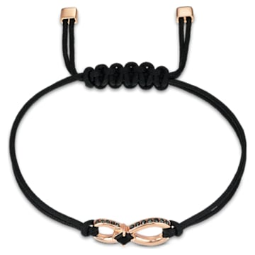 Pulsera Swarovski Infinity, negro, baño tono oro rosa - Swarovski, 5533721