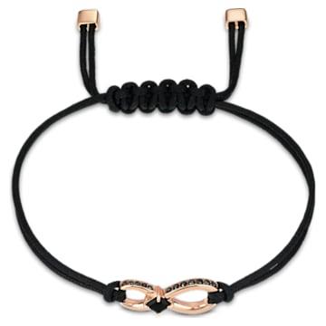 Swarovski Infinity-armband, Zwart, Roségoudkleurige toplaag - Swarovski, 5533721