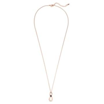 Colgante Swarovski Infinity, Infinity, Negro, Baño tono oro rosa - Swarovski, 5533722