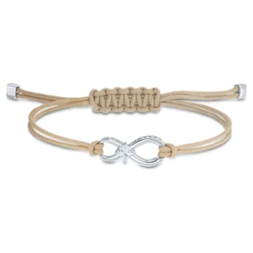 Braccialetto Swarovski Infinity, beige, placcato rodio - Swarovski, 5533725