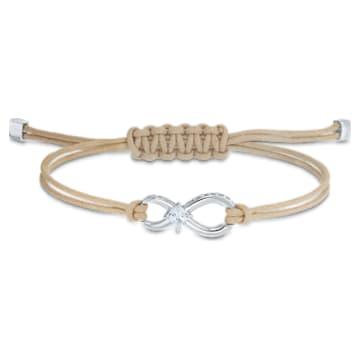 Swarovski Infinity 手鏈, 米色, 鍍白金色 - Swarovski, 5533725